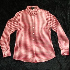 The Limited | Red/white checkers ladies blouse